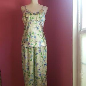 PINK Victoria's Secret Springtime Satin Pajamas